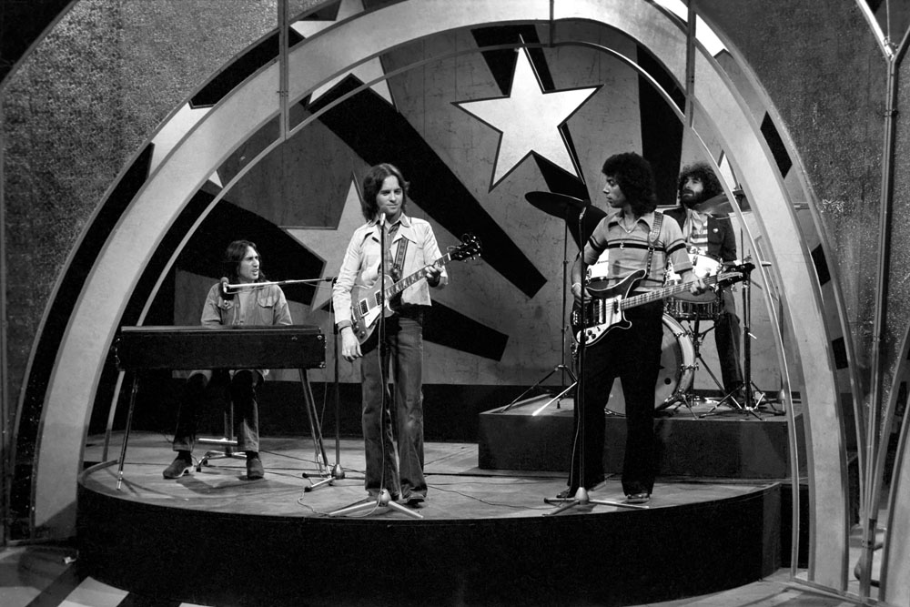 Stockport band 10cc on Top of the Pops, April 1975