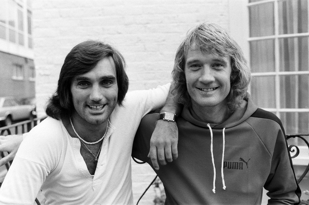 Rodney Marsh, right, with George Best when they both played for Fulham, September 1976