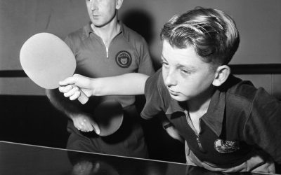 Bits & Pieces – Table tennis doubles father & son practise before championships…