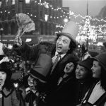 Comedian Ken Dodd and his Diddymen switch on the Christmas lights, November 1970