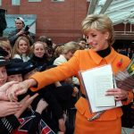 Princess Diana talks to well-wishers in Toxteth, November 1995