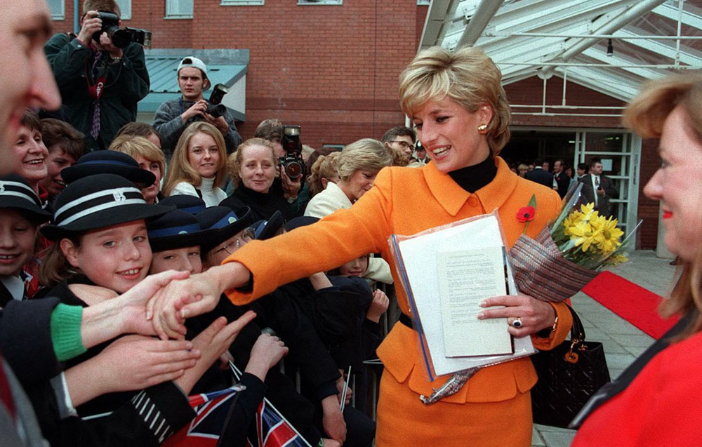 Princess Diana Visits Liverpool