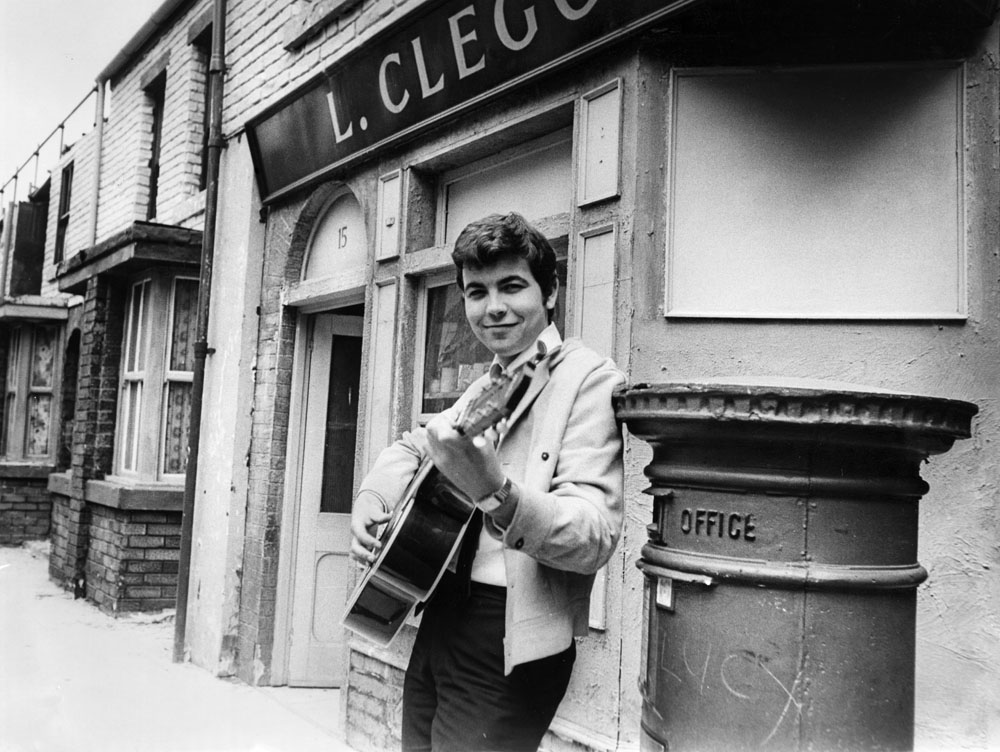 Bill Kenwright, who played Gordon Clegg, sang his new single on the Street, July 1968