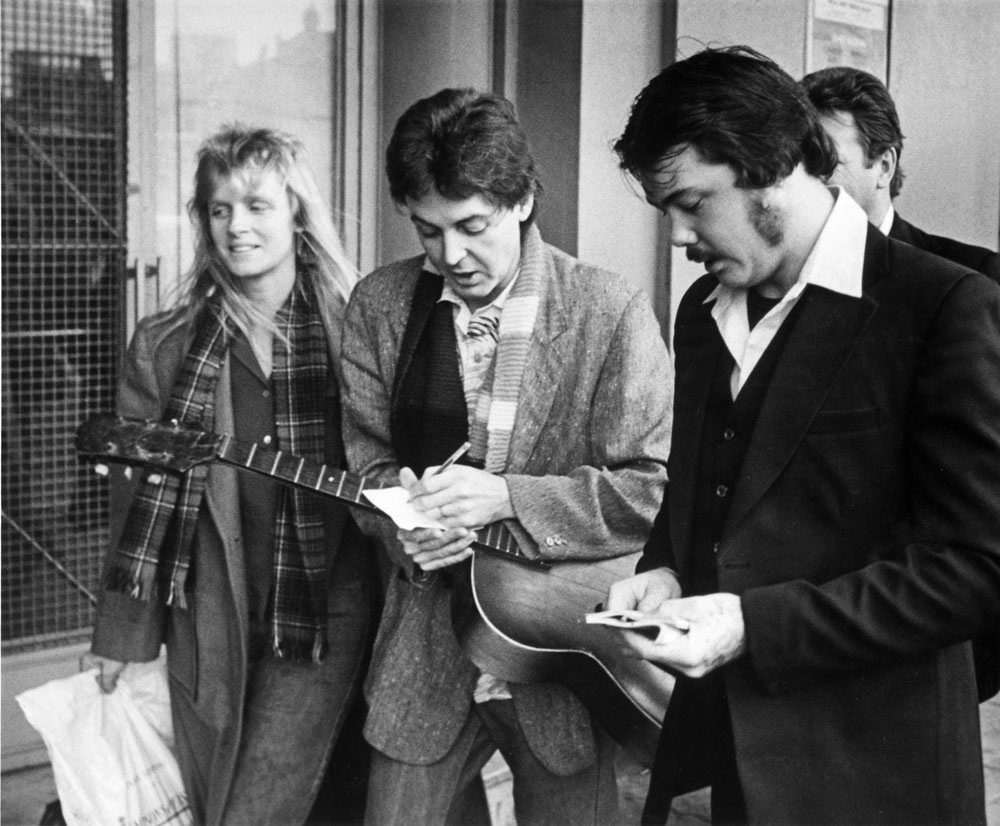 Paul McCartney and Wings choose the Royal Court to launch their UK tour, November 1979