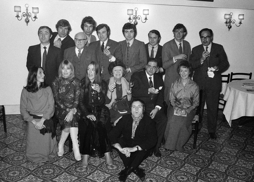 Former cast members reunited at the Street's 10th birthday party, December 1970