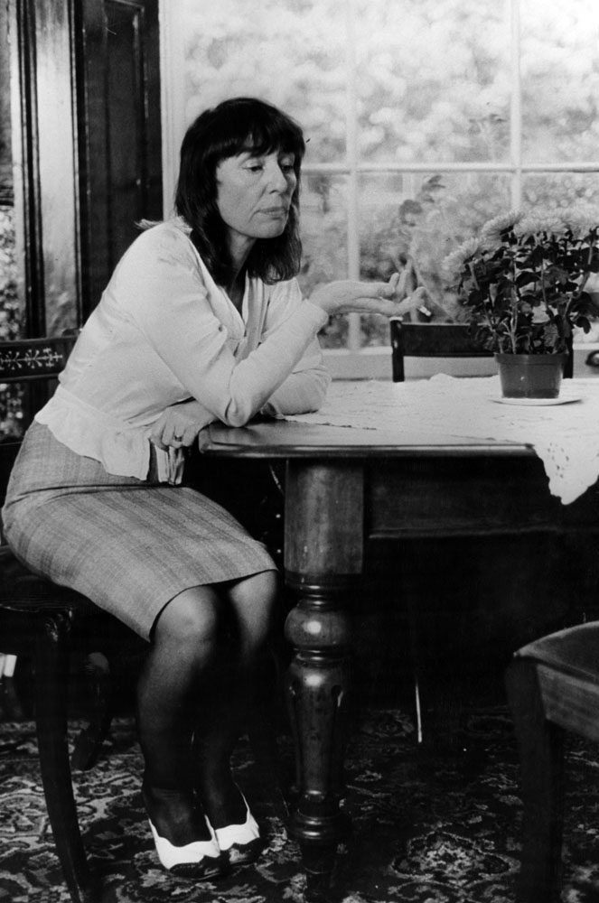 Planning her next novel – Beryl Bainbridge at home in September 1983