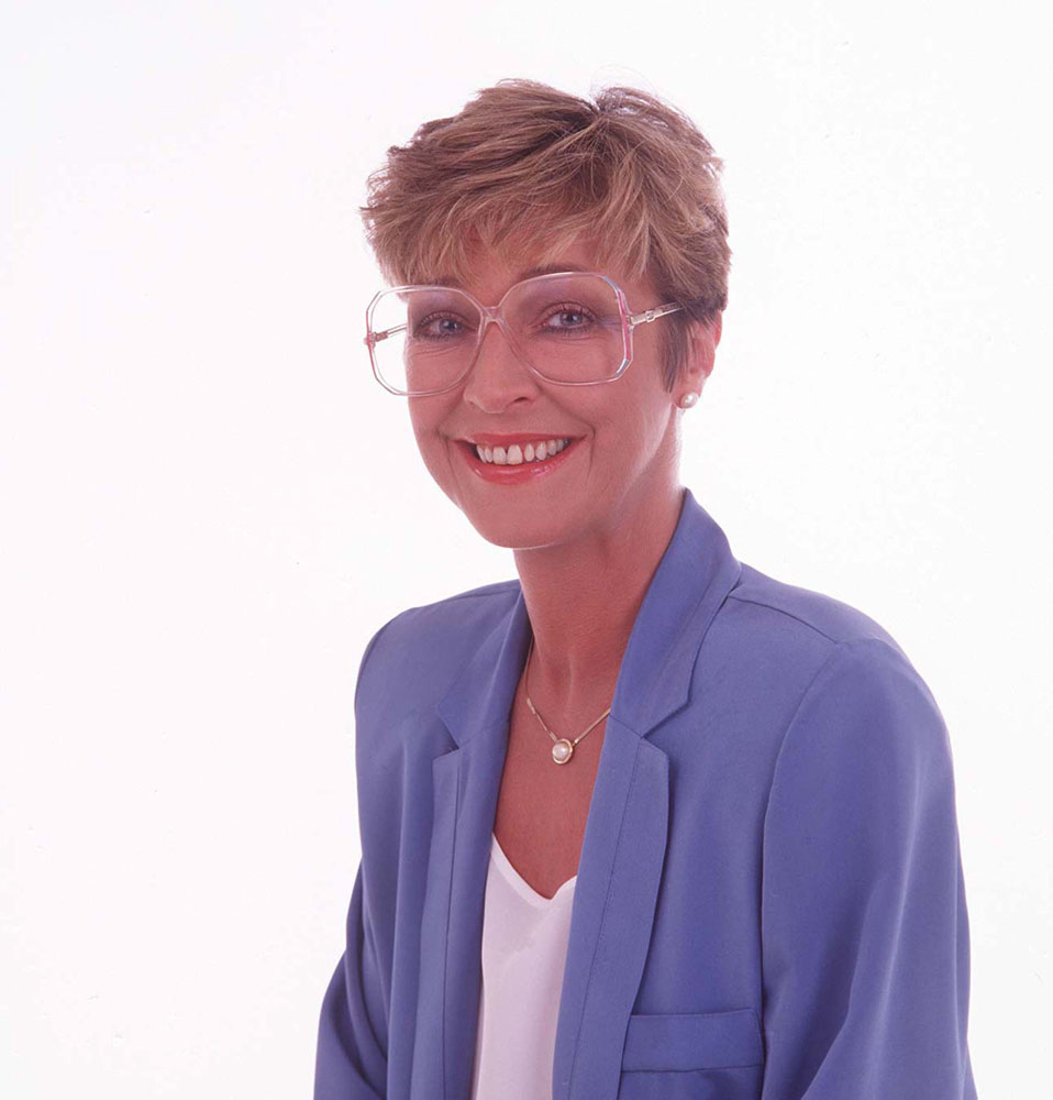Oldham-born Anne Kirkbride who played Deirdre Rachid, January 1999