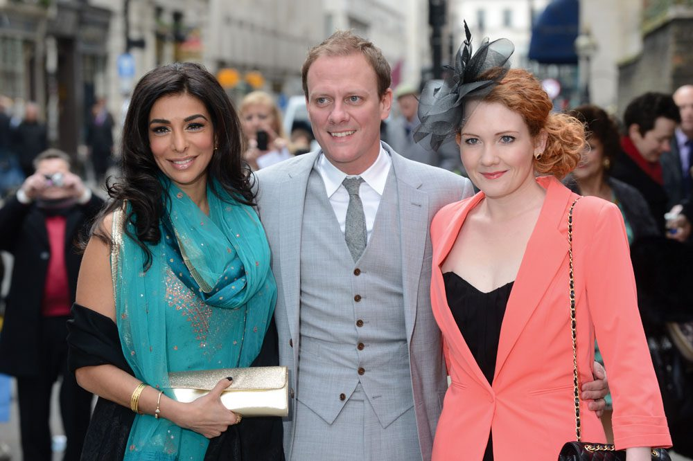 Bury-born Jennie McAlpine, right, with co-stars Shobna Gulati and Anthony Cotton, April 2013