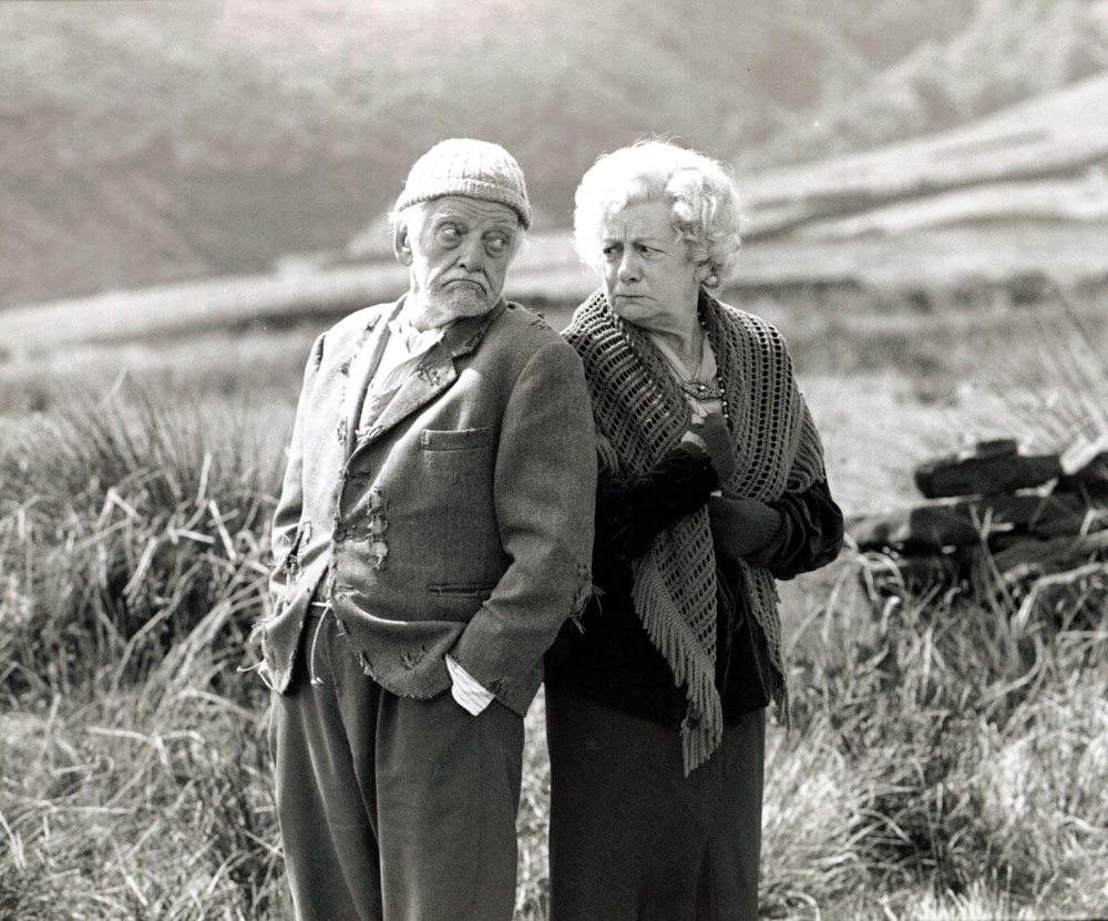 Bill Owen (Compo) and Jean Alexander (Auntie Wainwright) in Last of the Summer Wine, September 1992