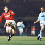 Andrei Kanchelskis eludes City's Terry Phelan to score his hat-trick, November 1994