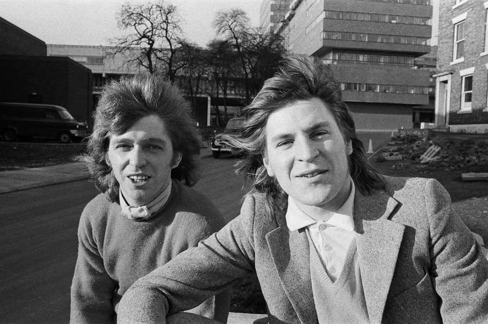Alan Price, right, and Georgie Fame after the release of their single Rosetta, February 1971