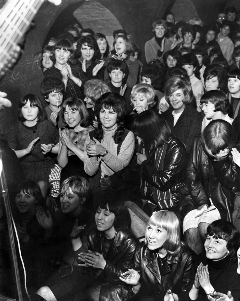A packed lunchtime audience at the Cavern Club, December 1963