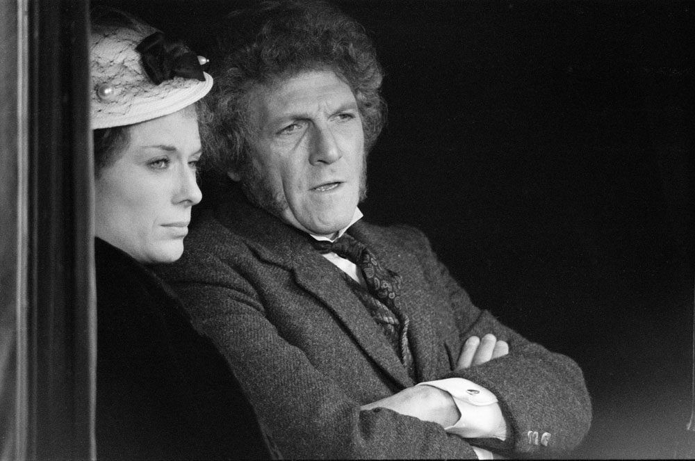Peter Gilmore as James Onedin and Jill Gascoigne as his wife Letty in the Onedin Line, March 1979