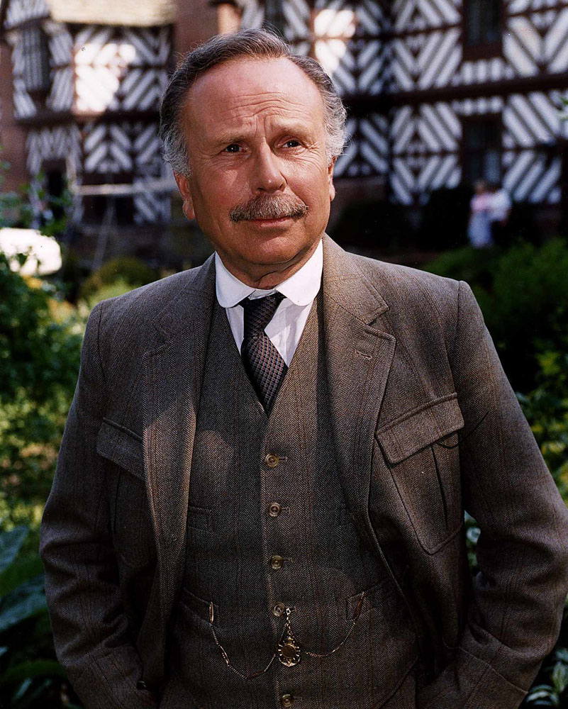 Edward Hardwicke who played Dr Watson in The Adventures of Sherlock Holmes, January 1993