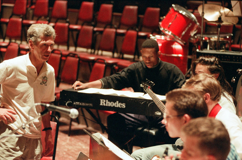 Georgie Fame conducting the Birmingham Schools Jazz Orchestra, July 1994