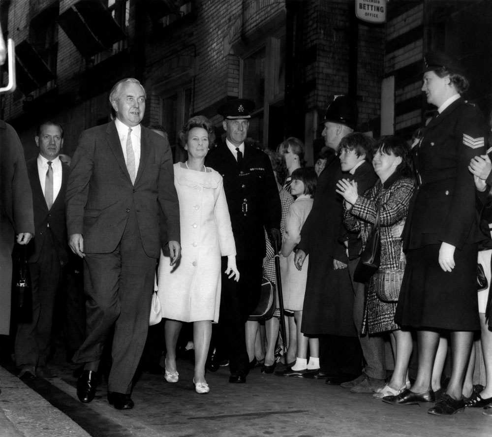 Prime Minister Harold Wilson reopens the Cavern Club, July 1966