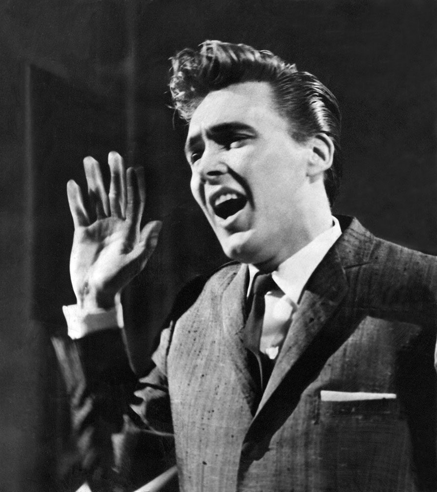 Billy Fury, whose backing group were Georgie Fame and The Blue Flames, January 1960