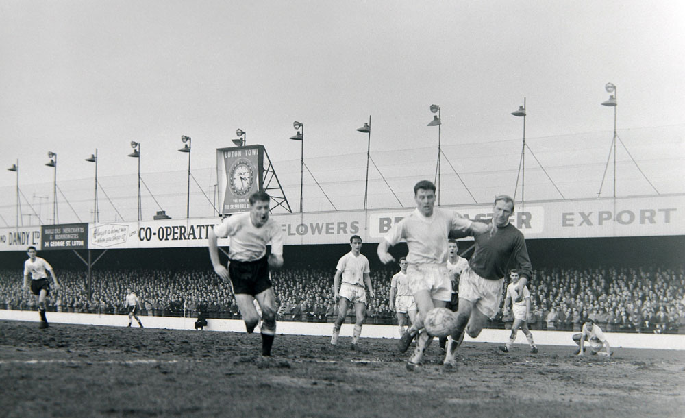 Action from City's fourth round FA Cup tie replay at Luton, February 1961