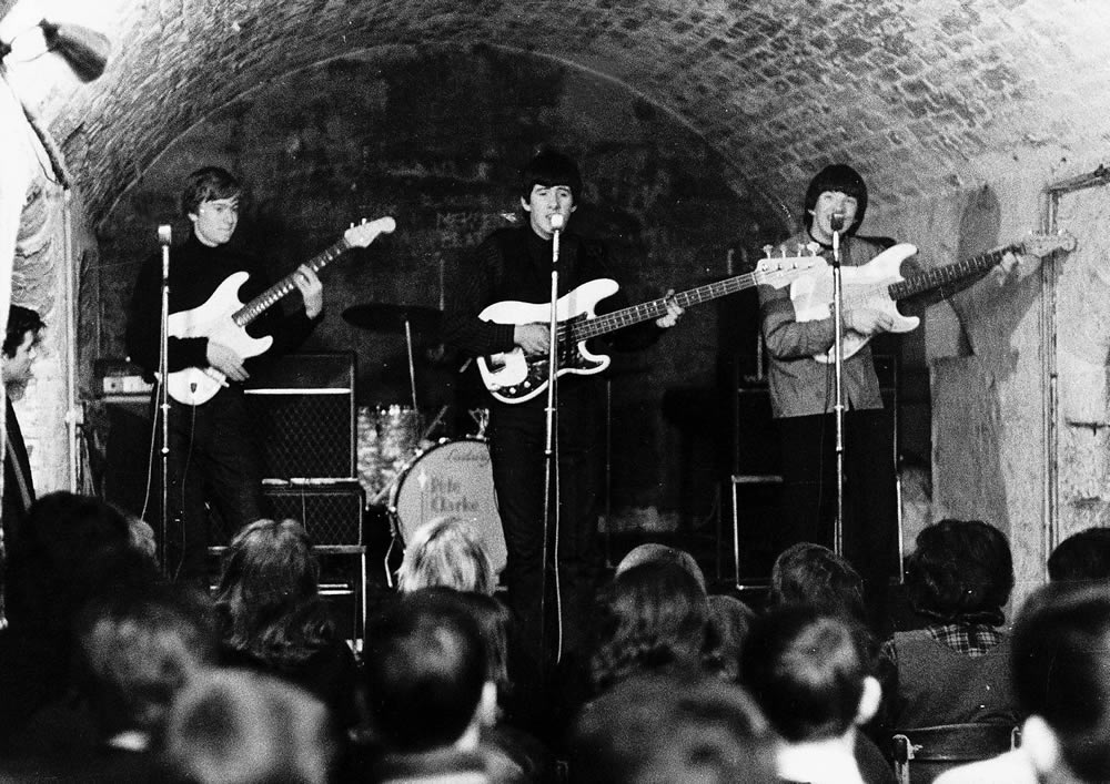 The Escorts performing at the Cavern Club, January 1964