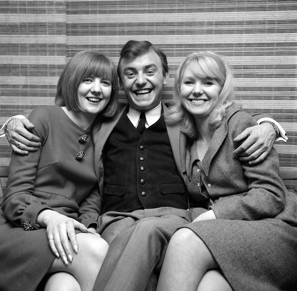 Cilla Black, Gerry Marsden and Julie Samuel – the stars of Ferry Cross the Mersey, December 1964