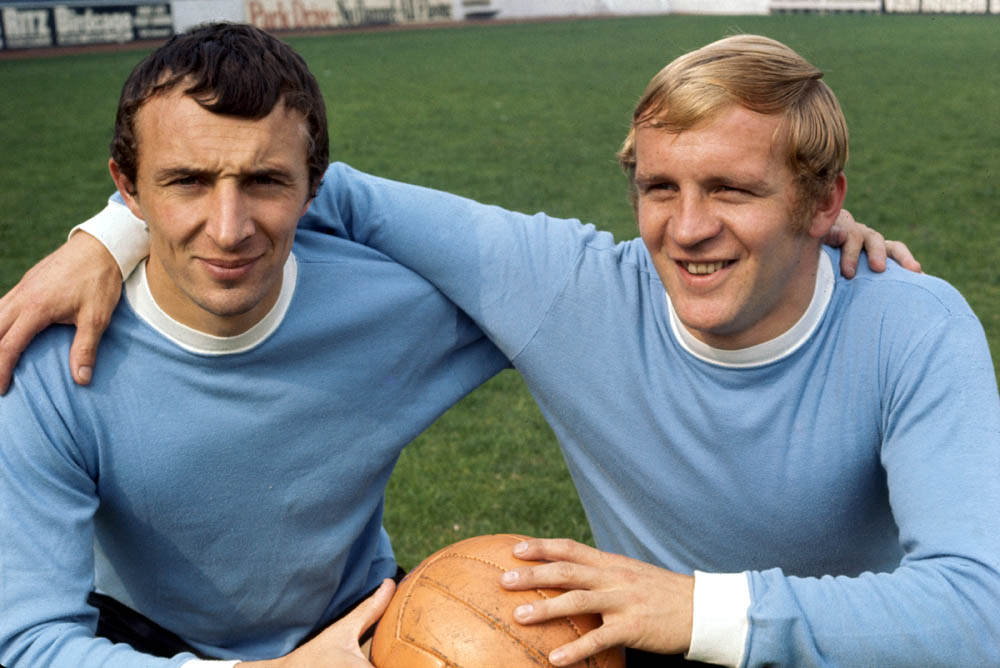Blues' legends Francis Lee and Mike Summerbee, March 1970