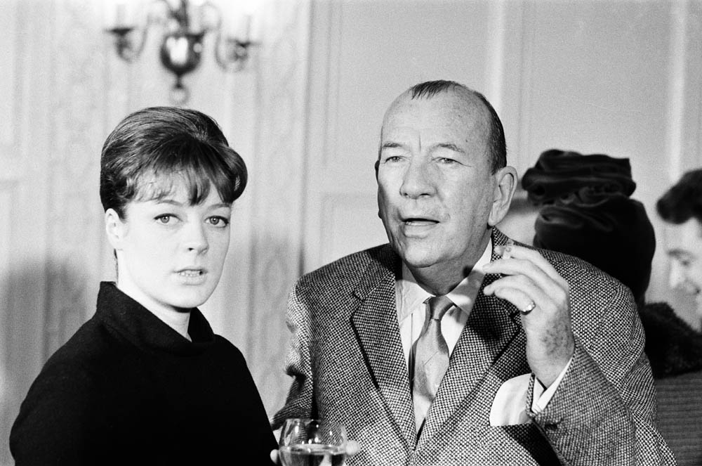 Maggie Smith and Noel Coward at Manchester's Palace Theatre, October 1964