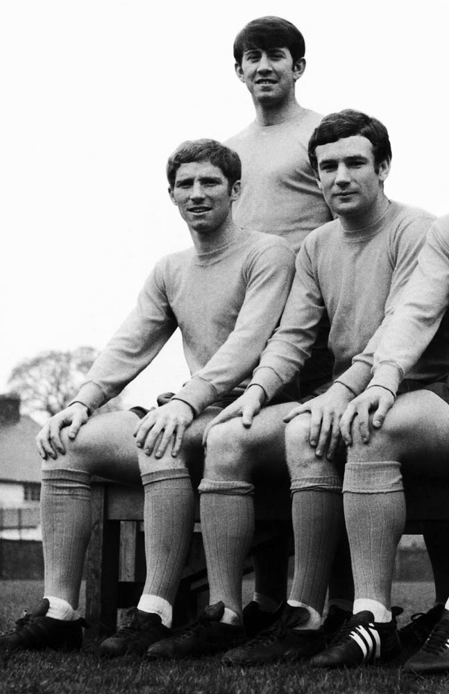 Everton's 'Holy Trinity' of Alan Ball, Howard Kendall and Colin Harvey, January 1968
