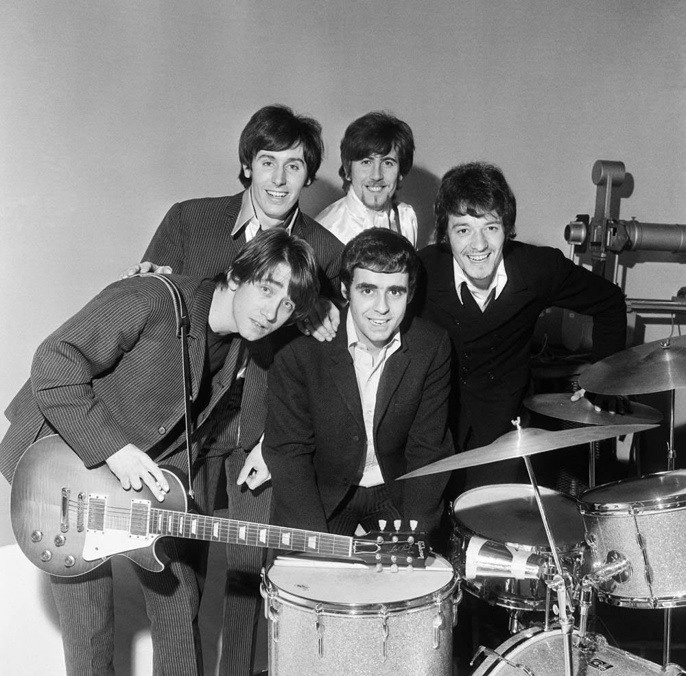 The Hollies rehearsing for their appearance on Doddy's Music Box, March 1967