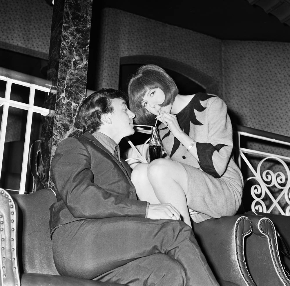 Cilla Black and Gerry Marsden enjoying a drink in Ferry Cross the Mersey, April 1964
