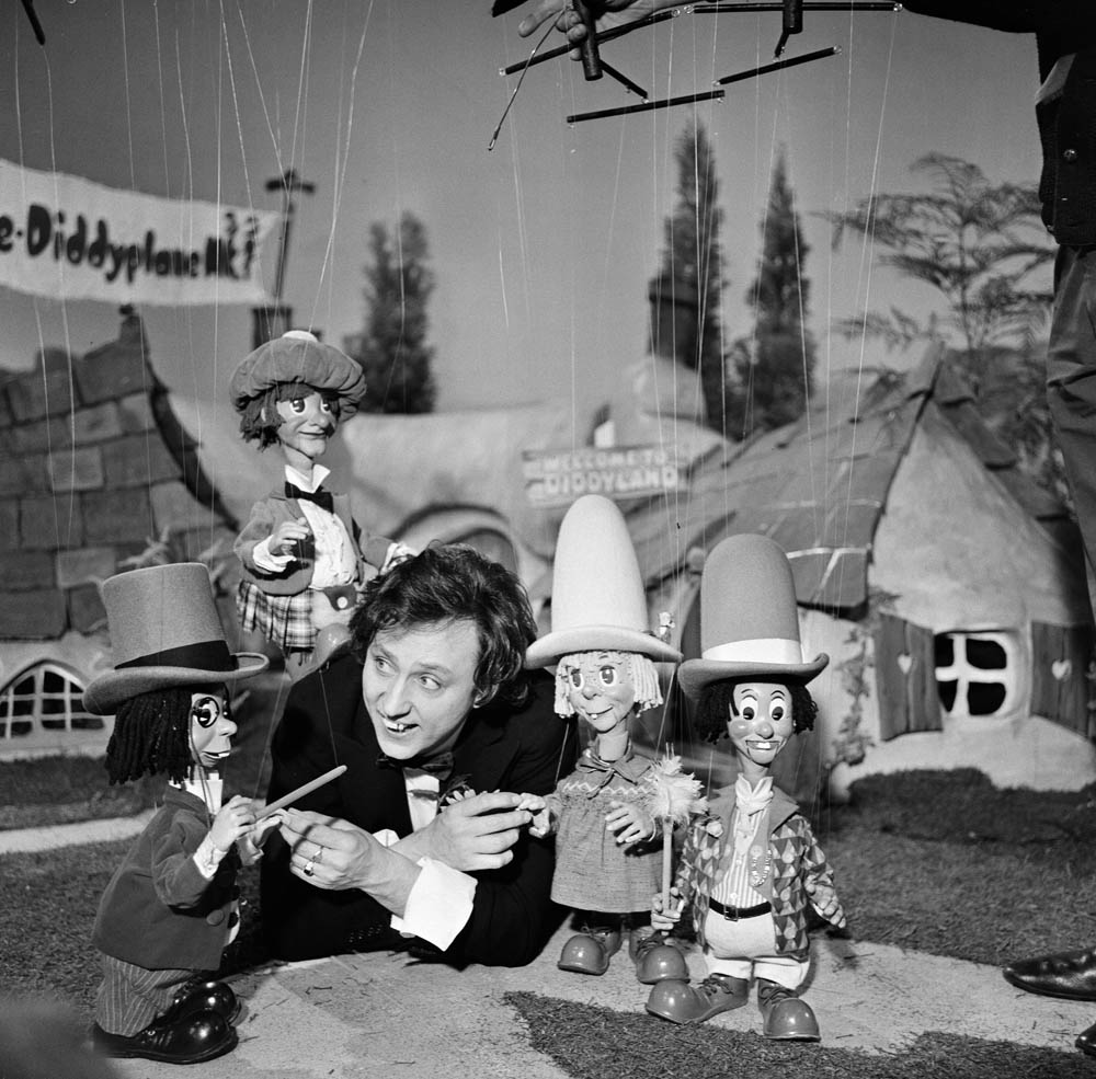 Ken Dodd and Diddymen puppets filming in Manchester, November 1968
