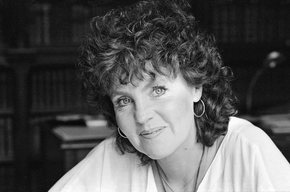 Pauline Collins who played the lead role in Shirley Valentine, July 1985