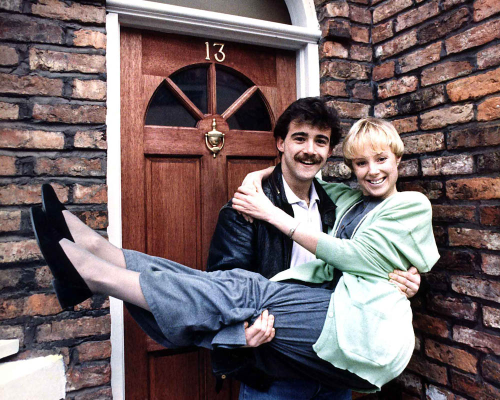 Sally and Kevin Webster, played by Sally Dynevor and Michael Le Vell, February 1988