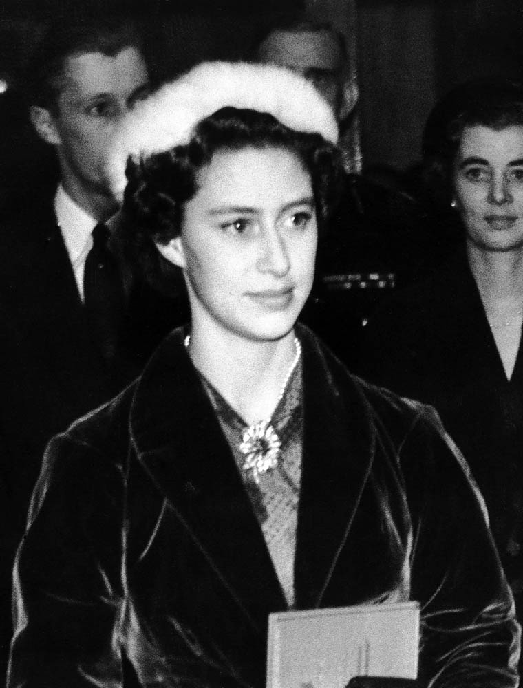 Princess Margaret on an early visit to Manchester, November 1953