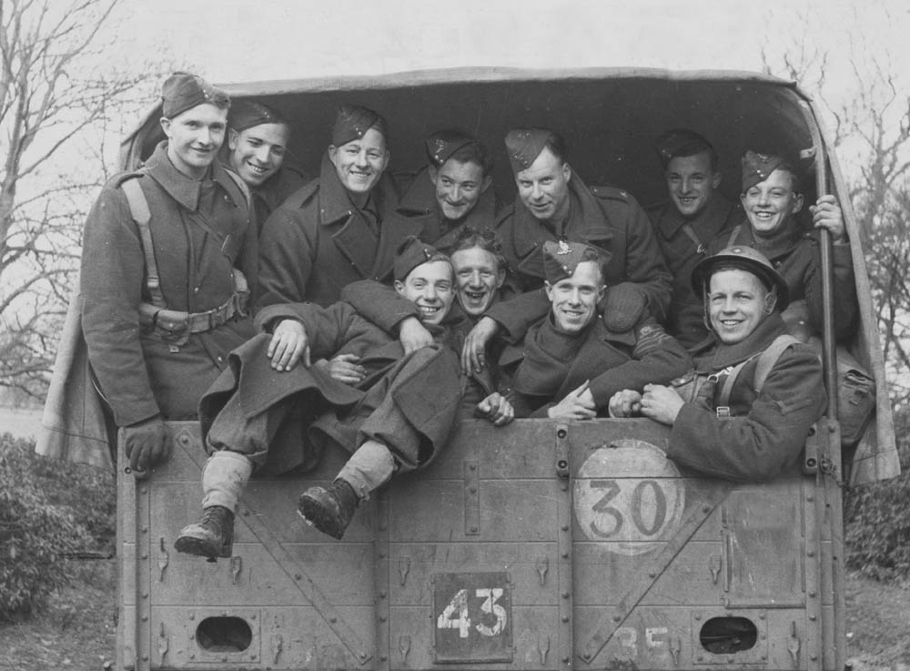 Bolton players on war service in the same unit, March 1941