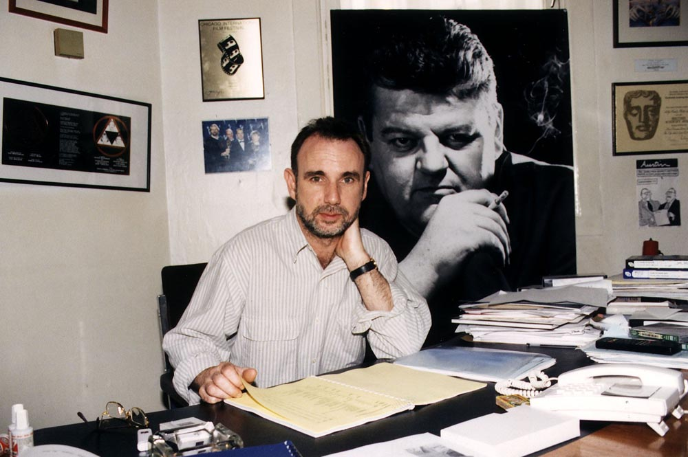 Writer Jimmy McGovern, the creator of crime drama Cracker, November 1994