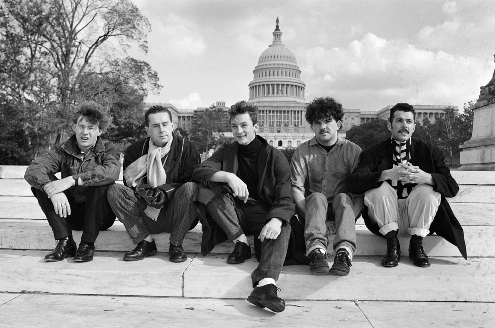 The Frankies relax on Washington's Capitol Hill, November 1984