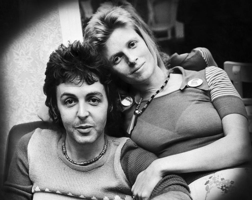 Paul and Linda McCartney at Liverpool's Empire Theatre, May 1973