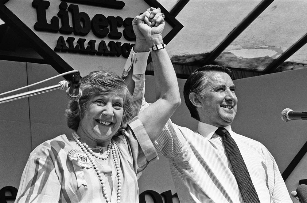 Shirley Williams & David Steel hit the campaign trail in Rochdale