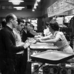 Liverpool players try out a New York deli during their American tour, May 1964