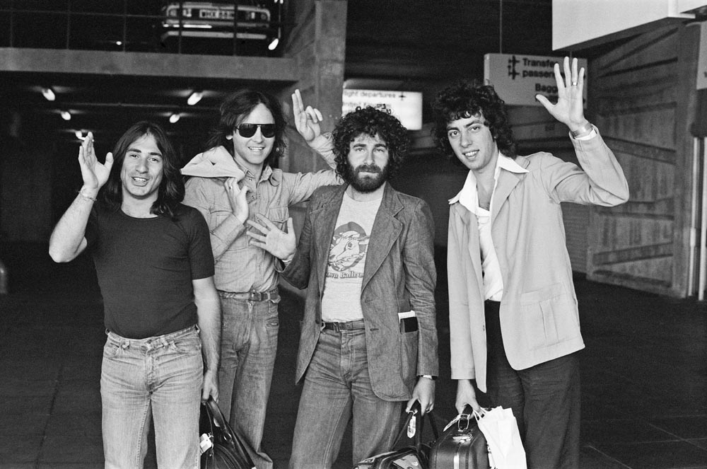 10cc at Manchester Airport ahead of USA tour