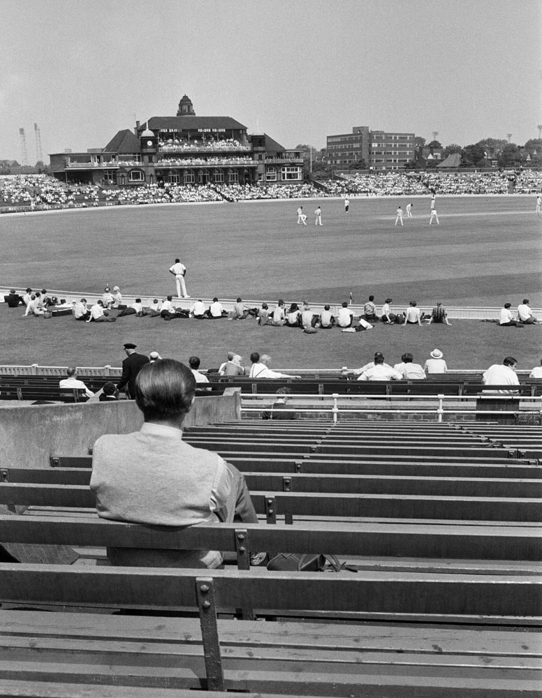 The view from the stands as England play the West Indies, June 1969