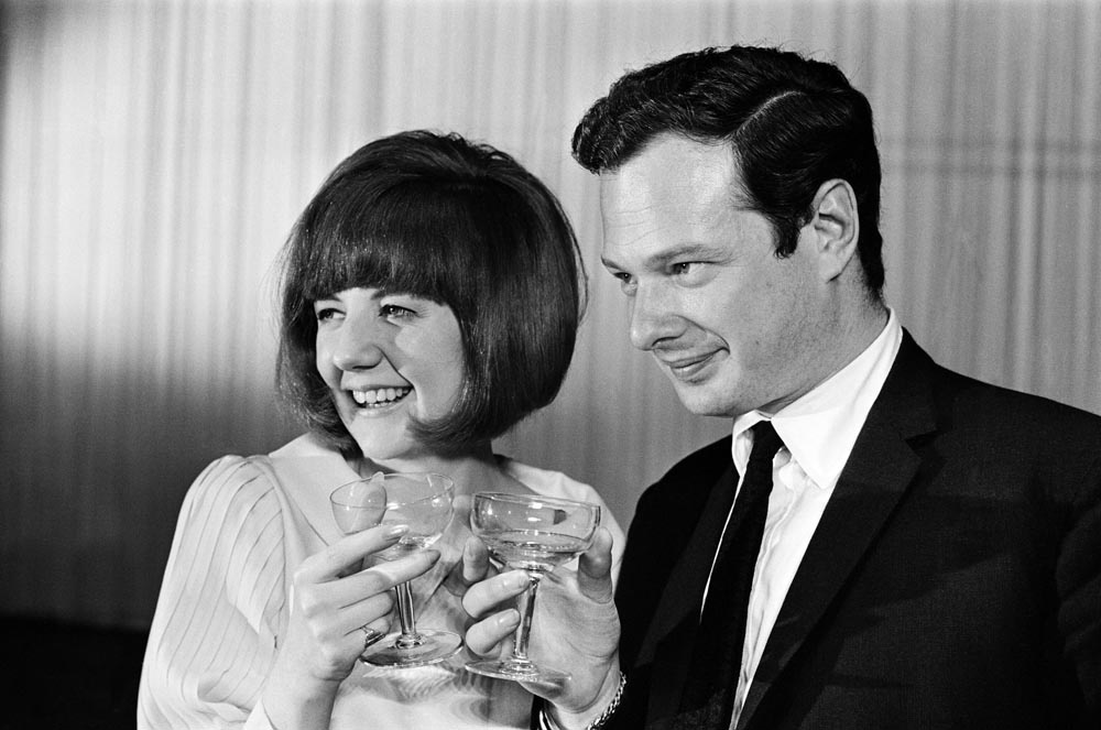 Beatles' manager Brian Epstein with Cilla Black on her 21st birthday, May 1964