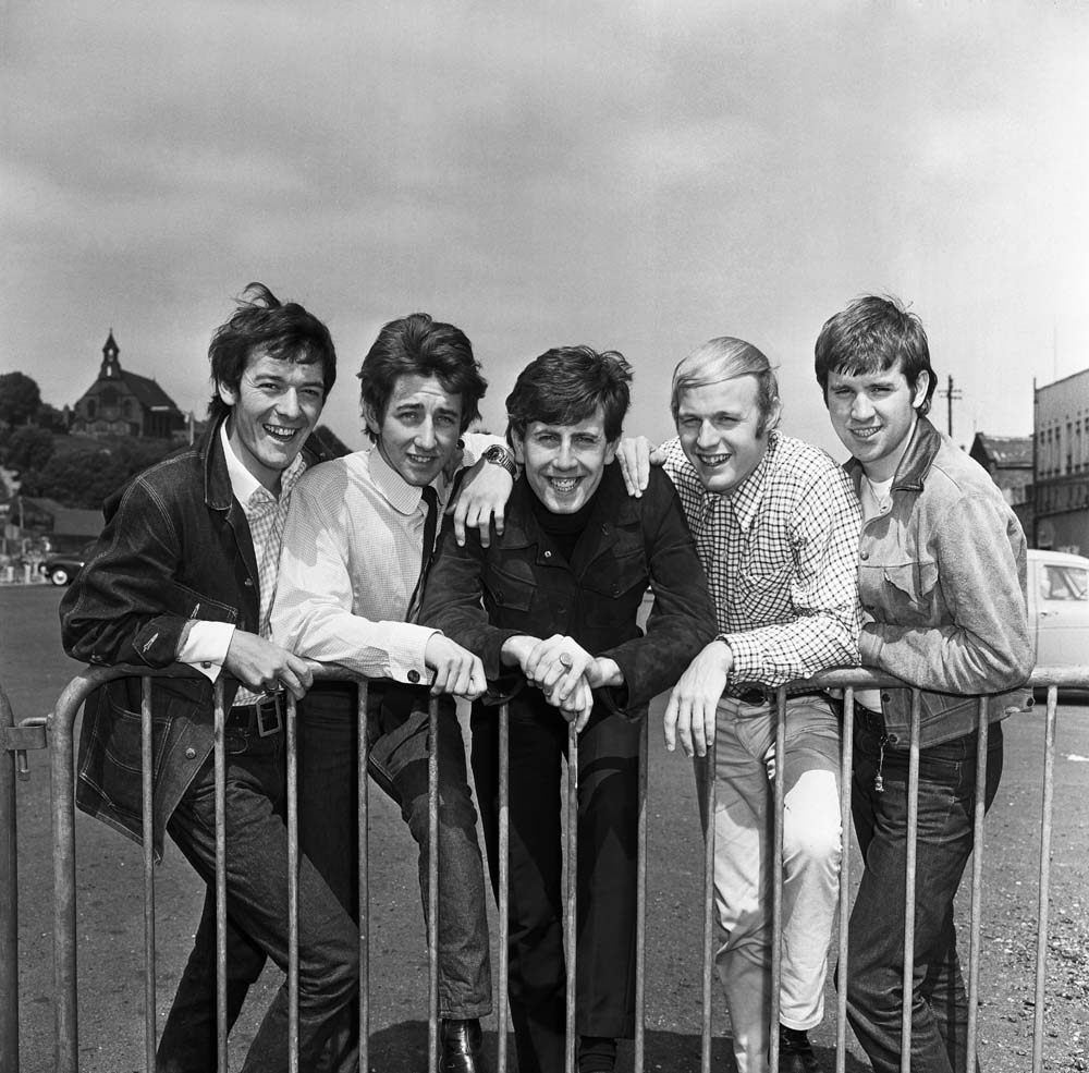 The Hollies with Graham Nash, centre, and lead singer Allan Clarke, far left, June 1965