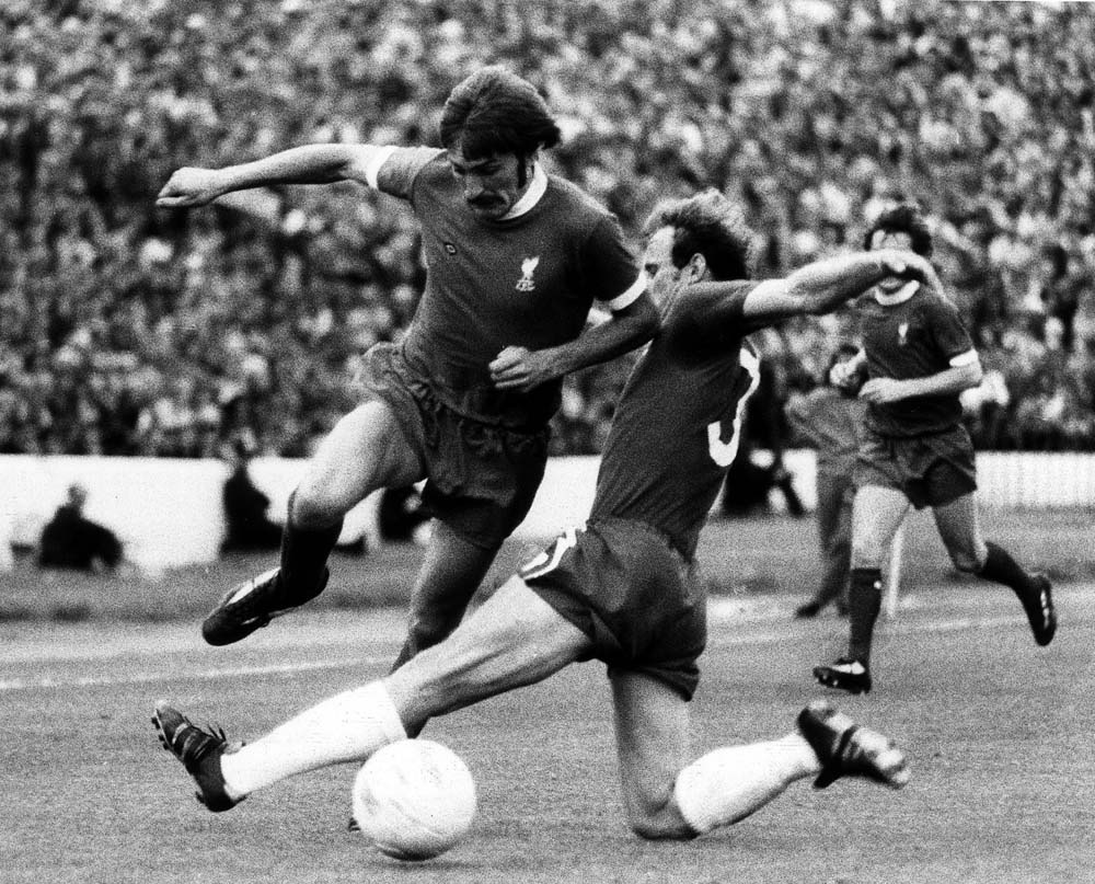 Steve Heighway evades a tackle in the 3-0 win at Chelsea, August 1974