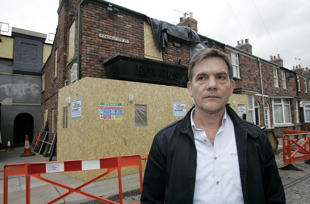 John Michie played Karl Munro who burned the Rovers down in March 2013
