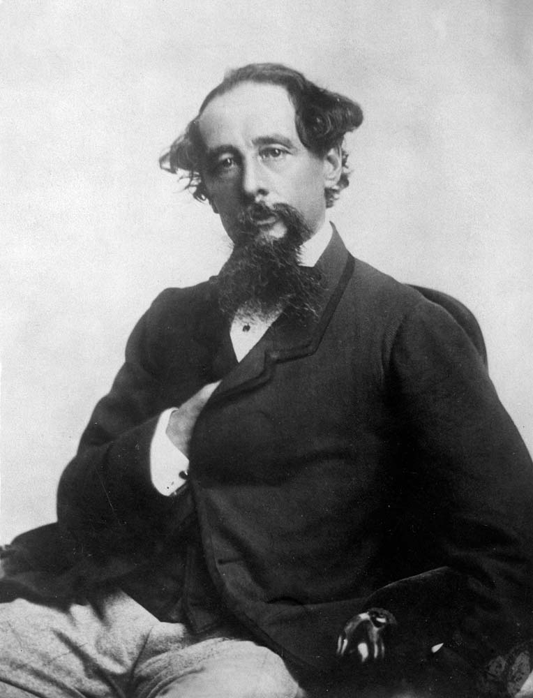 Novelist Charles Dickens, who admired the work of author Elizabeth Gaskell, January 1860