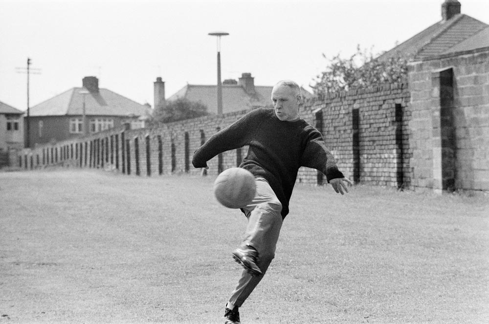 Liverpool manager Bill Shankly is the first back in pre-season training, June 1971