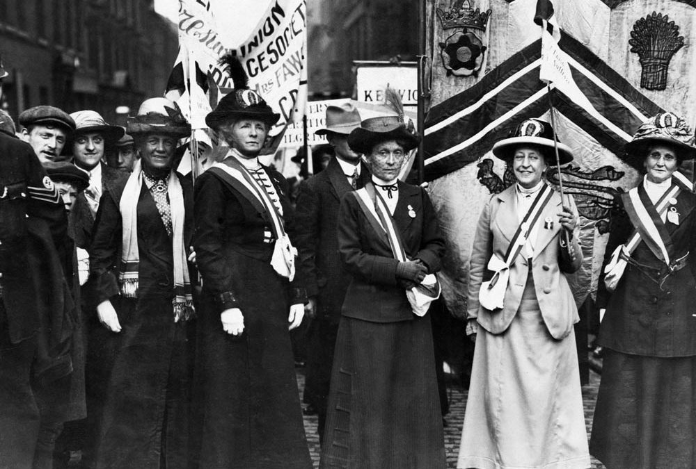 Suffragettes March Through Manchester