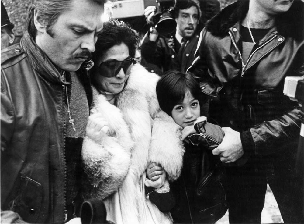 Yoko Ono and her son Sean visit the Strawberry Field children's home, January 1984