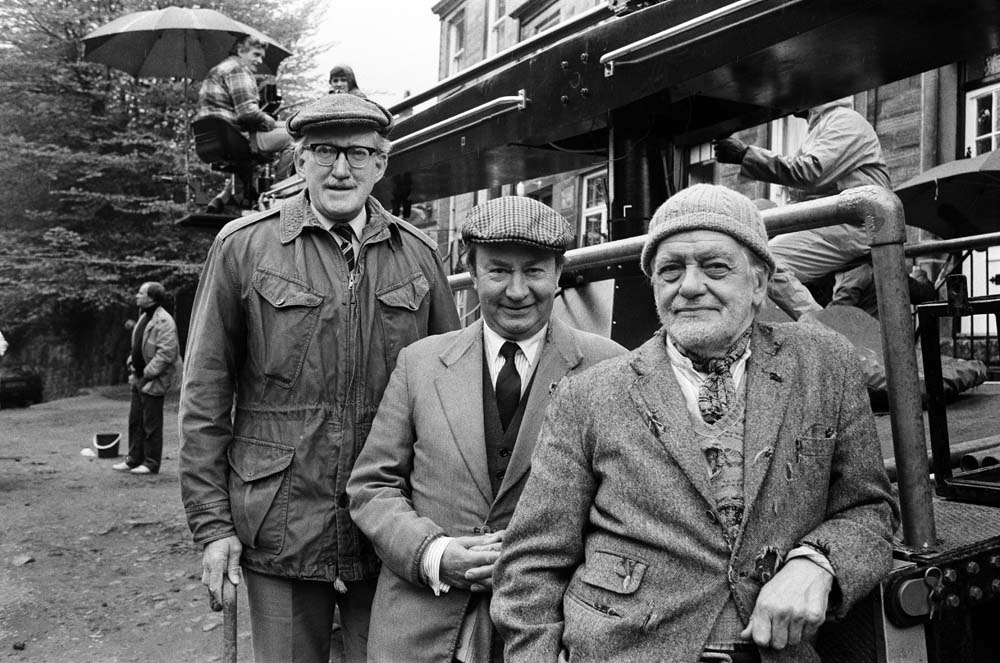 Brian Wilde (Foggy), Peter Sallis (Cleggy) and Bill Owen (Compo) in Last of the Summer Wine, May 1983